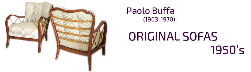 Paolo Buffa original armchairs